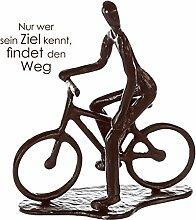 Casablanca - Design Skulptur Radfahrer Eisen