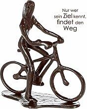 Casablanca - Design Skulptur Radfahrerin Eisen