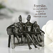Casablanca - Design-Skulptur Sitting Family Eisen