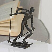 Casablanca - Design-Skulptur Skifahren aus Eisen -