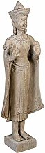 Casablanca - Figur Buddha aus Poly - Hellbraun in