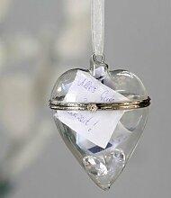 Casablanca Hänger Herz Glas Dekoidee Geschenkidee Geschenk Idee Hochzeit Deko Hochzeit hochzeitsdeko 87505
