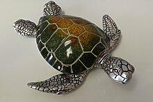 Casablanca Schildkröte Josie 79404 Grün Gelb Silber Maritime-Deko Bad-Deko Badezimmerdeko Bad-Dekoration