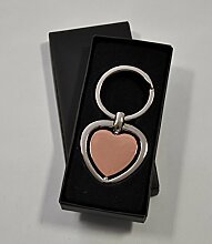 Casablanca Schlüsselanhänger Herz silber kupfer 7,5 cm 40939 Geschenkidee Liebe Freundschaft Geburtstag Führerschein Auto