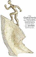 Casablanca Skulptur Aufsteiger Poly,Gold/weiß