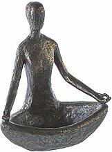 Casablanca Skulptur Yoga Poly,bronzefarben