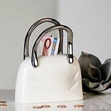 Casablanca Spardose Handtasche Tasche weiß silber