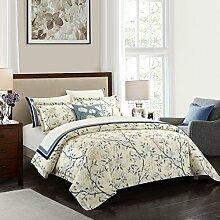 Casabolaj 3-teiliges Aquarell-Bettbezug-Set, 100 %