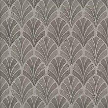 Casadeco Babylone 16739209Moderne Tapete mit Hintergrund taupe und Zeichnung grau mit braunen Details