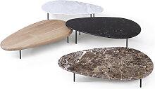 Casamania LILY Couchtisch, Holz oder Marmorplatte