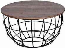 casamia Couchtisch Wohnzimmer-Tisch rund Lexington