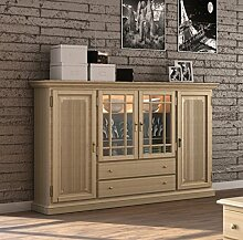 casamia Hochanrichte Highboard 2 Schubladen, 4