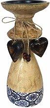 casamia Kerzenständer groß mit 2 Deko Herzen H