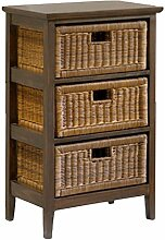 casamia Rattan-Regal, Holzregal mit 3