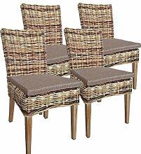 casamia Rattan-Stuhl Set 4 Stück Esszimmerstuhl