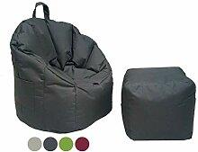 casamia Sitzsack-Set Outdoor mit Hocker ø 60 H 80