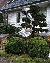 Casanova der Riese XXXL ca. 190 cm Steinvogel als Gartendekoration, Gartenfigur, Gartendeko, Edelstahlvogel nicht rostend mit Naturstein (Kein Stein ist wie der Andere Abweichungen vom Foto sind Normal)