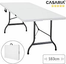 Casaria Gartentisch klappbar mit Tragegriff 183x76