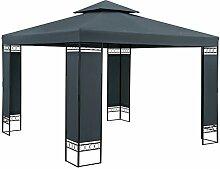 Casaria Pavillon Lorca 3x3m Anthrazit Stabil