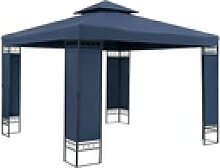 Casaria Pavillon Lorca, 3x3m, blau, UV-Schutz 50+,