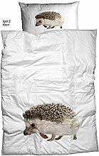 Casatex Baumwolle Renforce Bettwäsche Set IGLE mit Reißverschluss 1x 135x200 Bettbezug + 1x 80x80 Kissenbezug