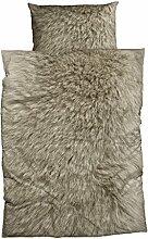Casatex Bettwäsche Animal Fur beige 135x200 cm + 80x80 cm