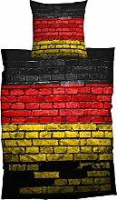 CASATEX Bettwäsche German Flag Renforcè schwarz rot gold, Größe:135x200 cm + 80x80 cm
