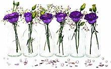 casavetro 24 x Mini Vase Glasfläschchen kleine