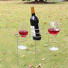 Casavidas Weinregal aus Glas und Flaschenhalter,