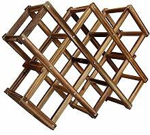 Casavidas Weinregal aus Holz für 10 Flaschen