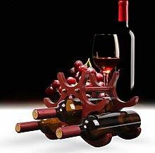 Casavidas Weinregal aus Holz für 8 Weinflaschen,