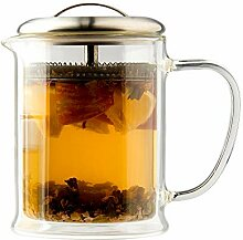 casaWare doppelwandige Borosilikatglas-Teekanne