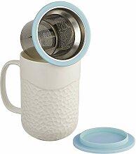 casaWare Tee-Ei Tasse mit Deckel und Untersetzer,