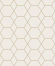 CASCA Geometrische Tapete Gold Muriva 147502