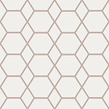 CASCA Geometrische Tapete Rose Gold Muriva 147503