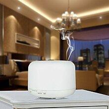 Cascacavelle 500ML Home Aroma Luftbefeuchter Ultraschall LED Purifier Diffusor | Startseite, Spa, Schlafzimmer, Wohnzimmer