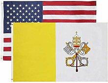 Cascade Point Flags Christian/Katholisch & USA 3x5