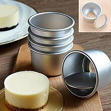 Case Cover 5pcs / Set Aluminium Runde Mini-Kuchen