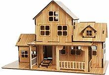 Case Cover Holzhaus Puzzle Gebäude Bausatzkit 3D
