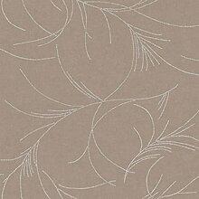 CASELIO Haiku 55221119–Tapete Grau Taupe (braun) mit Punkte silber