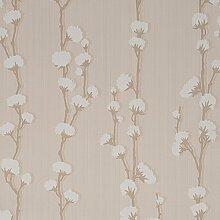 CASELIO Melody 60059032–Tapete Naturfarben und Blumen Farbe tabak