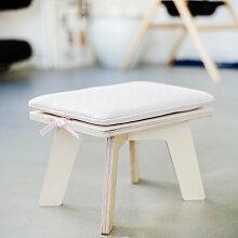 Casie Living Kinderhocker aus Holz ´´Hook´´ mit Sitzkissen in beige/rosa