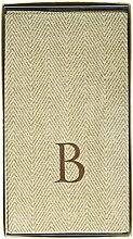 Caspari Gästehandtuch, Monogramm mit Initiale B,