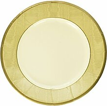 Caspari Salatteller mit 8-teilig Papier Moiré, Gold