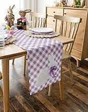 Cassiel Home Tischläufer Osterhase Gingham 35,6 x