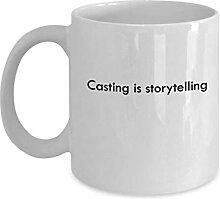 Casting ist Storytelling 11 Unzen Kaffee-Haferl -