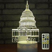 Castle 3D Optische Illusion Nachtlicht Spielzeug