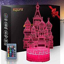 Castle 3D Visuelle Lampe 3D Nachtlicht 16 Farben