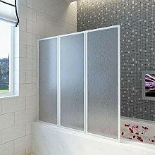 CASTLOVE Badewannen Faltwand Duschabtrennung 117 x