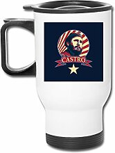 Castro Communist Propaganda Edelstahl-Becher,